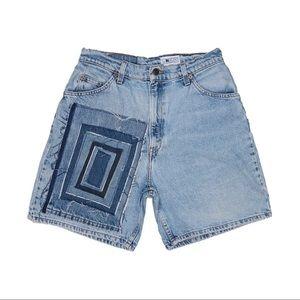 Reworked Levi's Long Light Wash Shorts